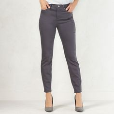Women's LC Lauren Conrad High-Rise Jeggings, Dark Grey