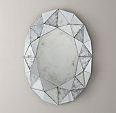 Restoration Hardware Baby & Child's Jewel Mirror:Faceted edges give our oval mirror the look of a precious gemstone – and make it an ideal frame for the fairest of all.