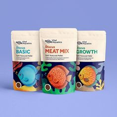 Vital Aquatics fish feeds on Packaging of the World - Creative Package Design Gallery Cool Packaging, Food Packaging Design, Packaging Design Inspiration, Branding Design, Pet Branding, Fish Breeding, Fish Feed, Different Fish, Creativity And Innovation