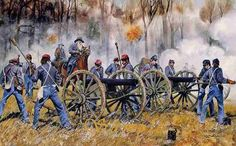 Ruggles Battery at shiloh the biggest concentration of guns ever brought up in a single battle breaking the union line at the Hornet Nest