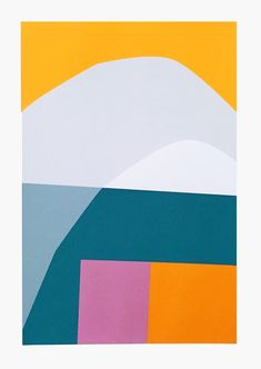Handmade screen prints focusing on composition and colour by Jonathan Lawes, a printmaker and artist currently based in South London. London Clubs, South London, Abstract Shapes, Textile Prints, Surface Pattern, Willis Tower, Printmaking, Online Printing, Screen Printing