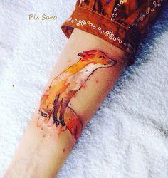 Little Fox On Woman's Forearm | Best tattoo ideas & designs
