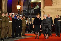Before the festival the Queen and the Duke of Edinburgh viewed the plaque commemorating the renaming of the South Steps at the Royal Albert Hall to Queen Elizabeth II Diamond Jubilee Steps - 9th November 2013