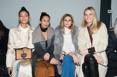Olivia Palermo Photos Photos - (L-R) Juana Burga, Nausheen Shah, Olivia Palermo and Selby Drummond attend the Tibi fashion show during Fall 2016 New York Fashion Week on February 13, 2016 in New York City. - Tibi - Front Row - Fall 2016 New York Fashion Week