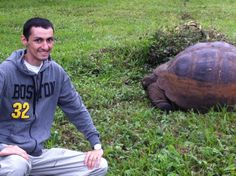 With Galapagos tortoise!