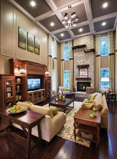 Love the coffered ceiling - Toll Brothers - America's Luxury Home Builder