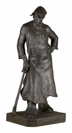 """Constantin Meunier : The Blacksmith / """"De smid - De man met de nijptang"""", 1886. Brussel, Koninklijke Musea voor Schone Kunsten van België, inv. 10000 / 10"""