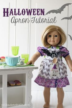 American Girl Doll Sewing Patterns: Halloween Apron-- such a cute pattern!
