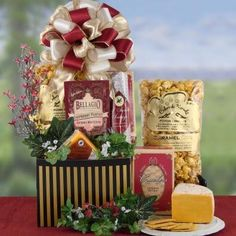 Sausage and Cheese Thank You Gift Basket - http://www.yourgourmetgifts.com/sausage-and-cheese-thank-you-gift-basket/