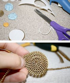 how to recycle old zips and create beautiful costume jewellery.