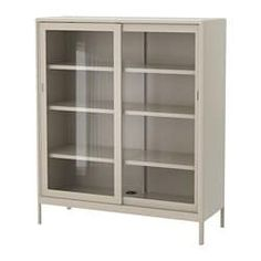 IKEA - IDÅSEN, Cabinet with sliding glass doors, , Limited Warranty. Read about the terms in the Limited Warranty brochure.Sliding doors give you more room Glass Cabinet Doors, Sliding Glass Door, Glass Shelves, Sliding Doors, Glass Doors, Buffet Vitrine, Ikea Family, My New Room, Door Design