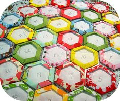 hexagon quilt back