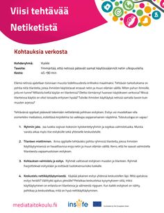 Netiketti - tehtäviä. Teacher, Education, Professor, Teaching, Onderwijs, Learning