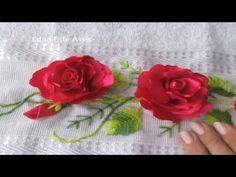 Flor de fita- de cetim -Renda extra- Bordado a mão - YouTube Heart Quilt Pattern, Quilt Patterns, Ribbon Embroidery, Quilts, Youtube, Satin Ribbon Flowers, Ribbon Flower, Satin Ribbons, Silk Ribbon Embroidery