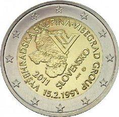 moneda conmemorativa 2 euros Eslovaquia 2011., Tienda Numismatica y Filatelia Lopez, compra venta de monedas oro y plata, sellos españa, accesorios Leuchtturm