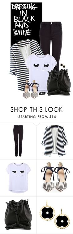 """Dressing in Black and White"" by sherry7411 ❤ liked on Polyvore featuring J Brand, WithChic, Chicnova Fashion, J.Crew, Rebecca Minkoff, Asha by ADM, Bling Jewelry, monochrome, polyvoreeditorial and polyvorecontest"