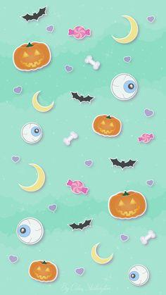 Halloween Trick or Treat iPhone Home Wallpaper @PanPins