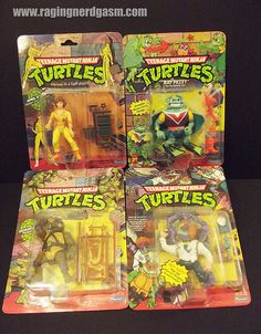 TMNT by Playmates. Check out our flickr at http://www.flickr.com/photos/ragingnerdgasm/sets/72157630964402632/