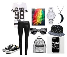 """""""untitled #2"""" by felicianoanaya105 ❤ liked on Polyvore featuring The Row, Converse, Carolina Glamour Collection and Michael Kors"""