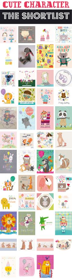 With over 440 designs submitted, it's been an exciting task picking the shortlist for the Cute Character competition. The competition team have selected the top 47 entries and the panel of judges will select their favourites for the next round. To view all the entries click here.