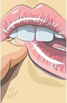 Bite / Lips / Pink / PopArt