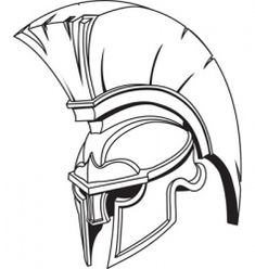 Illustration of Spartan roman greek trojan or gladiator helmet Royalty Free Stock Vector Art Illustration greek idea's -illustrations Gladiator Tattoo, Gladiator Helmet, Spartanischer Helm, Spartan Helmet Tattoo, Trojan Helmet, Trojan War, Helmet Drawing, Tattoo Tribal, Greek Helmet