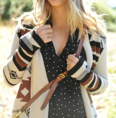 I am alll about the tribal look this fall; it looks especially great on the classic cardigan. Youll def see this in my wardrobe this fall!