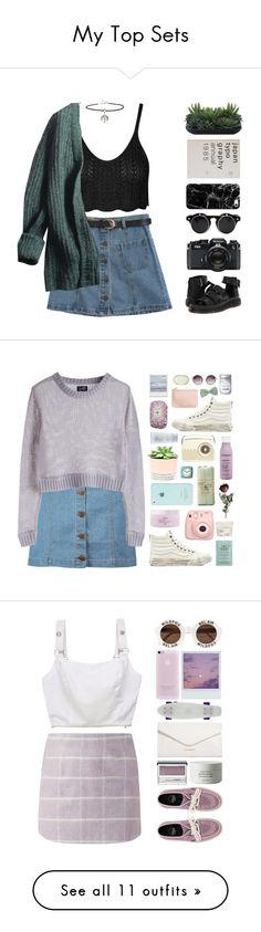 """My Top Sets"" by chelseapetrillo ❤ liked on Polyvore featuring moda, Lux-Art Silks, Chicnova Fashion, Nikon, Dr. Martens, Prada, ASOS, Casetify, Boohoo e Living Proof"