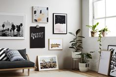 Picture wall with the new art print collection 'Golden Years' by Hunting for George.