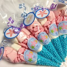 If youre having a Mermaid Party, why not treat your guests with a yummy sweet cone. Its personalised too, to make it extra special.