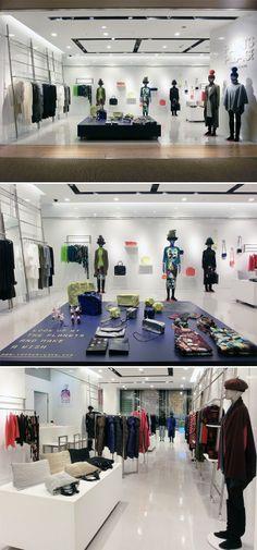 Visual Merchandising   Display:  ISSEY MIYAKE Pleats Please Store Concept ~ Fall/Winter 2013