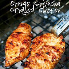Orange Sriracha Grilled Chicken