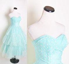 Aqua strapless 1950s Bombshell Wedding Dress with by aiseirigh...soooo lovely