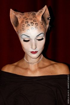 cat makeup realistic prosthetics - Google Search