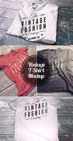 Vintage T-Shirt Mockup psd mockups, product mockups, presentation mockups, mockup templates