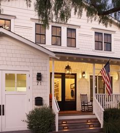Front Porches & the American Flag