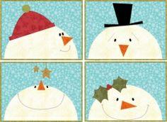Snowmen Placemats | Quilt Patterns & Blocks | Angie's Bits 'n Pieces