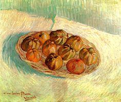 PARIJS winter 1888 / Mandje met appelen opgedragen aan Lucien Pissarro / Vincent van Gogh - Still Life with Basket of Apples (to Lucien Pissarro), oil on canvas Art Van, Van Gogh Art, Vincent Van Gogh, Van Gogh Still Life, Still Life Art, Painting Prints, Painting & Drawing, Canvas Prints, Art Print