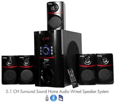 Amazon.com: Frisby FS-5010BT 5.1 Surround Sound Home Theater Speakers System with Bluetooth USB/SD and Remote: Electronics