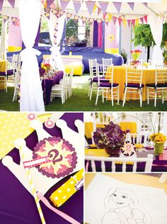 More from Hostess with the Mostess! Tangled movie / Rapunzel birthday party