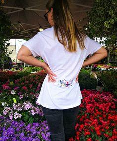 What to choose 🤔 ____________________________________________________ The Flower Stamp T-shirt 500,- NOK ________________________________________ #oslounbranded #tshirt #tattoo #flower #summer #embroidery Flower Stamp, Oslo, T Shirts For Women, Embroidery, Tattoo, Flowers, Summer, Instagram, Fashion