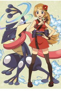 Serena Ninja con un Shiny Greninja (crédito pendiente) #PokémonXY #KalosQueen