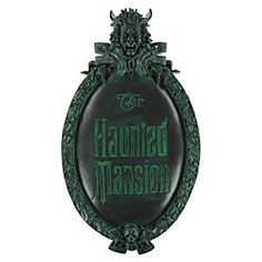 Disney The Haunted Mansion Wall Sign   Disney StoreThe Haunted Mansion Wall Sign - Now you can own an iconic symbol of the legendary attraction. Crafted in resin with the distinctive patina of aged brass, this detailed replica of The Haunted Mansion sign will send an excited shiver down the spines of fright fans.