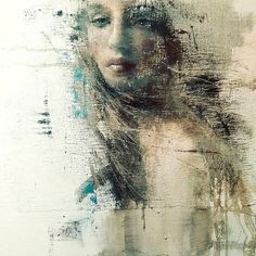 Image may contain: 1 person, outdoor Woman Painting, Figure Painting, Painting & Drawing, Encaustic Art, Light Painting, Surreal Art, Portrait Art, Face Art, Watercolor Illustration