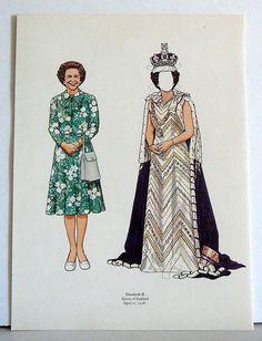 1982 Paper Doll Queen Elizabeth