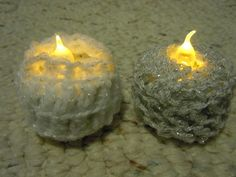 Crochet Tea Light ... by Craftdrawer | Crocheting Pattern