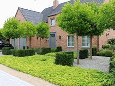 Project MT Lokeren - Verde Garden Architecture - Tailor-made projects Dutch Gardens, Front Gardens, Garden Deco, Garden Park, Low Maintenance Garden, Small Garden Design, Modern Landscaping, Plantation, Landscape Architecture