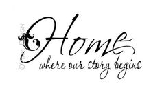 """Quote: """"Home is where our story begins."""" #quotes #genealogy"""