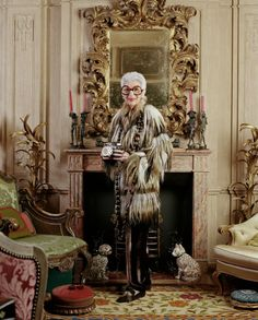"""vogue: """"""""Nothing I ever did I expected to do,"""" Iris Apfel, the eclectic New York style icon, explains in the new documentary—'Iris.' Read an interview with the 93-year-old It girl on Vogue.com Photo: Christopher Sturman / Trunk Archive """""""