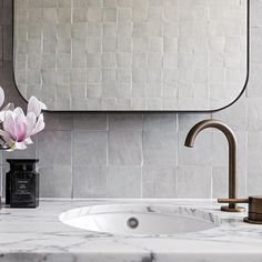 When marble met hand-craft Moroccan tiles. This all-white palette gives the feeling of a luxurious retreat. Explore the inspiring bespoke… Moroccan Tiles, All White, Tile Design, Palette, White Bathroom, Luxury, Morocco, Bespoke, Bathrooms